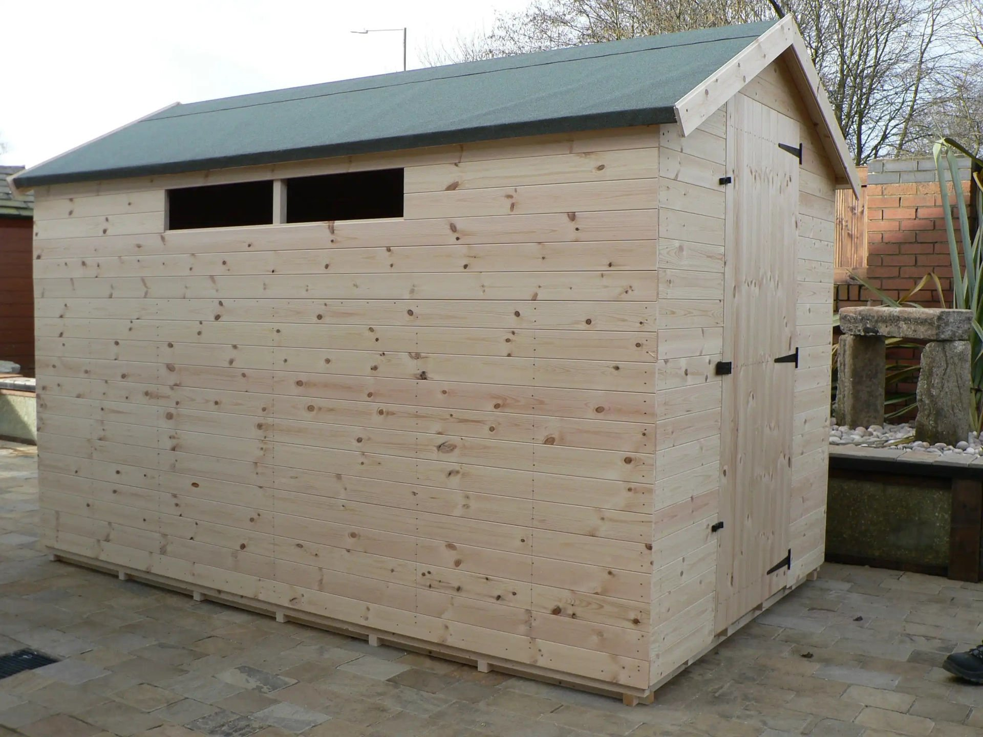 Sheds Manchester - 10' x 6' Apex Shed With Security Windows And The Door Hinged On The Right