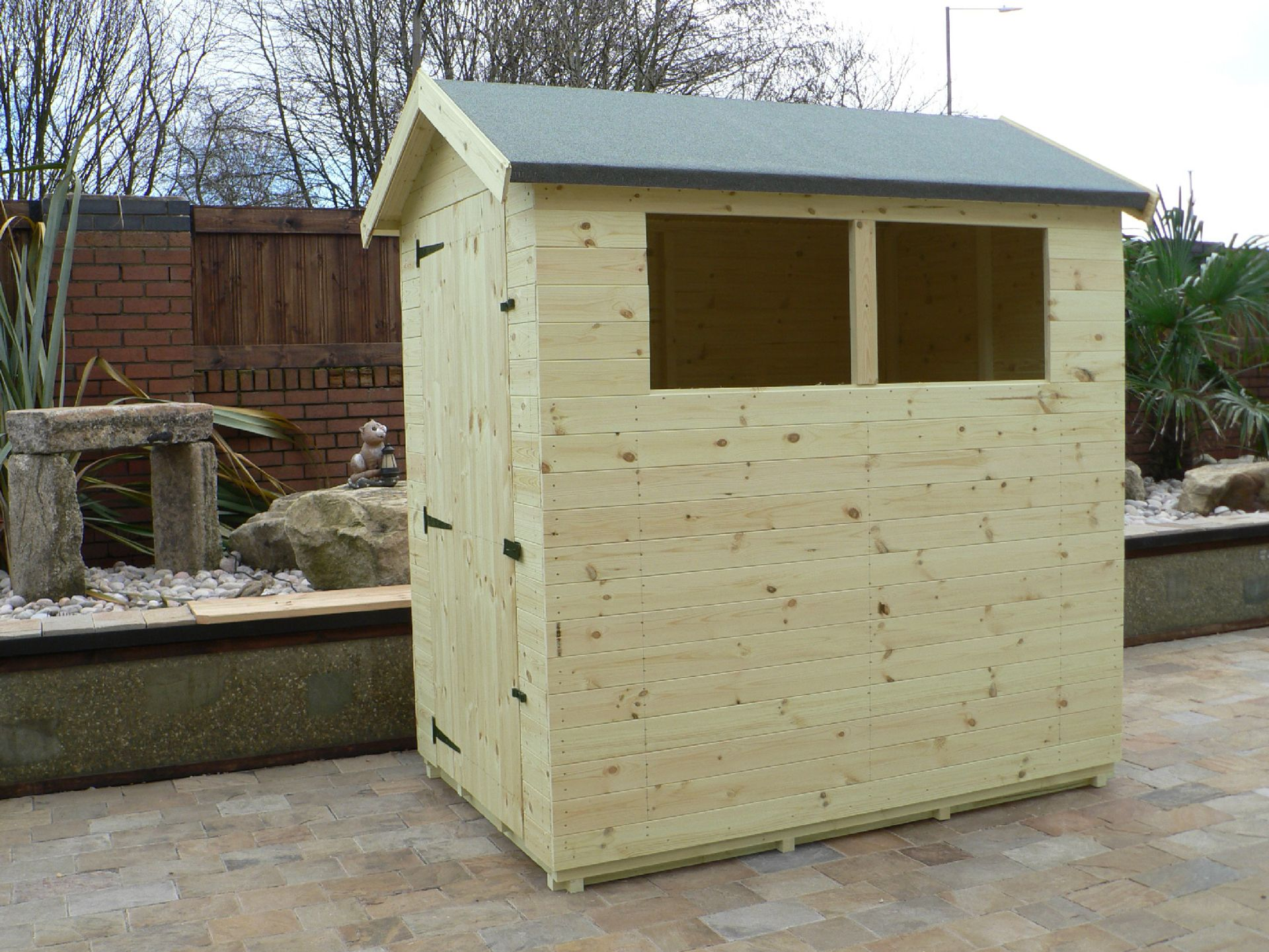 Sheds Manchester - Pressure Treated 6' x 4' Apex Shed . Door On The Left Gable End