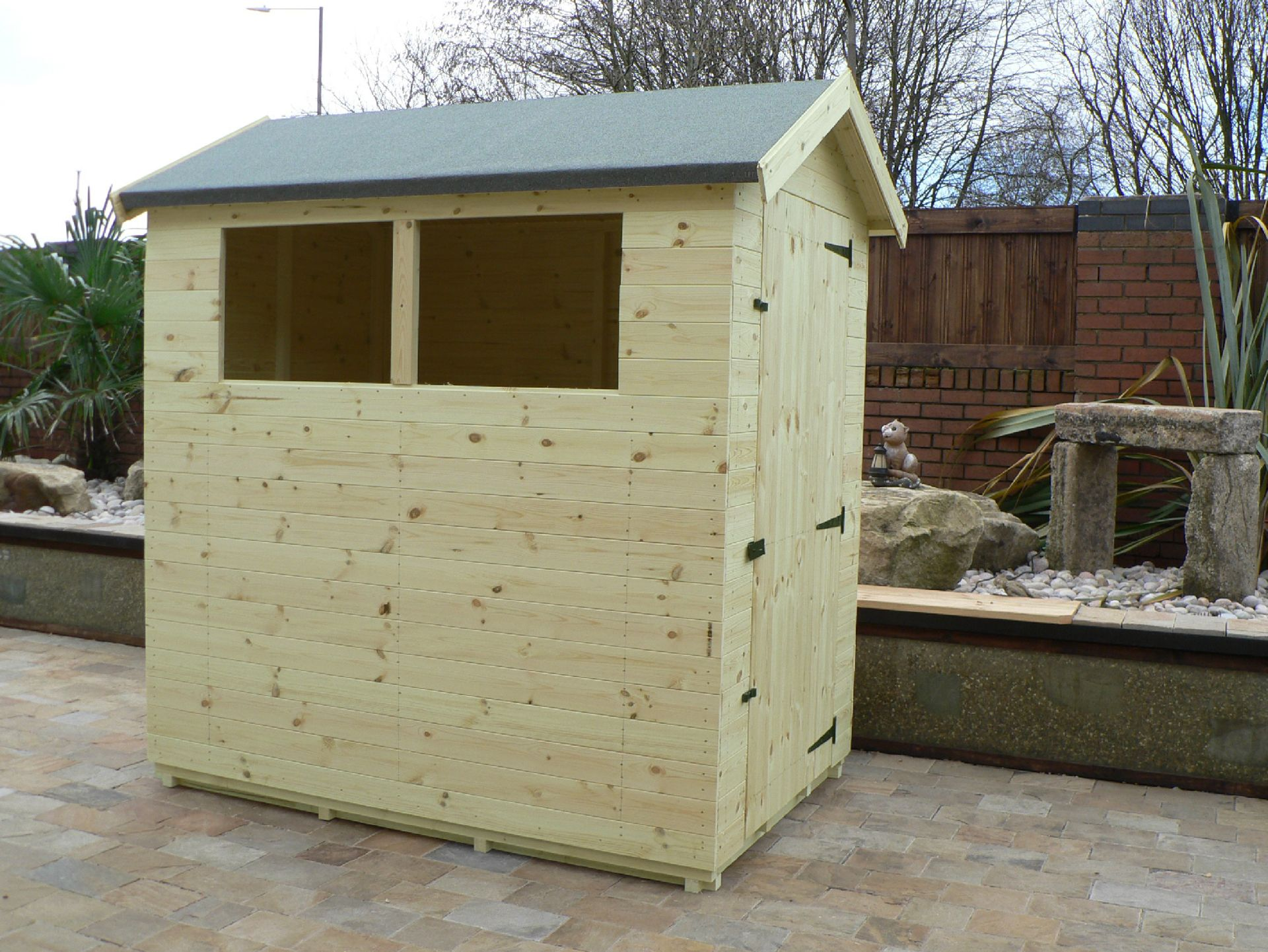Sheds Manchester - Pressure Treated 6' x 4' Apex Shed . Door On The Right Gable End