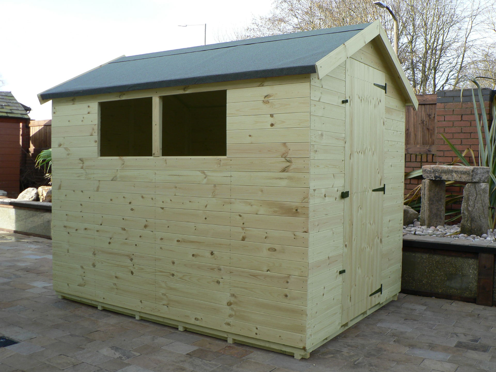 Pressure Treated 8' x 6' Apex Shed . Door On The Right Gable End